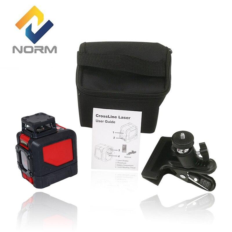 Norme niveau laser 5 Lignes Rouges Mini Style Auto-Nivellement Laser Niveau avec réglable de montage pince
