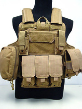 Tactical Vest CS Wargame Airsoft Paintball MOLLE CIRAS Combat Vest CIRAS Tactical Vest With Triple Magazine Pouch ACU/WOODLAND