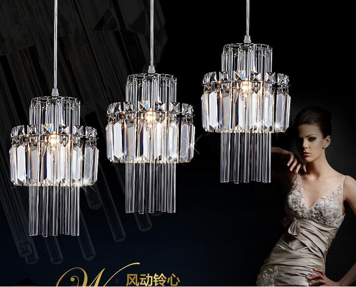 ФОТО A1 Crystal pendant lamp LED creative art LED single three head combination Crystal Lamp pendant lights porch