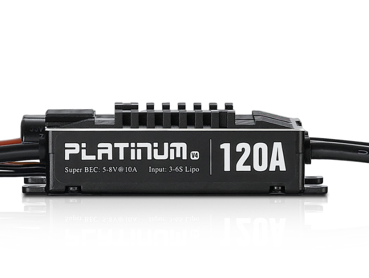 Original Hobbywing Platinum Pro V4 120A 3-6S Lipo BEC Empty Mold Brushless ESC for RC Drone Aircraft Helicopter