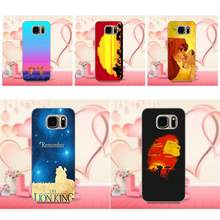 Soft Silicone TPU Transparent Cover Case Lion King For Samsung Galaxy A3 A5 A7 J1 J3 J5 J7 S5 S6 S7 S8 S9 edge Plus 2016 2017(China)