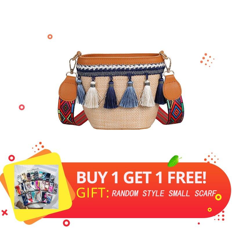 2019 Square Straw Bags Women Summer Rattan Bag Handmade Woven Beach Cross Body Bag Circle Bohemia Handbag Bali Handmade in Top Handle Bags from Luggage Bags