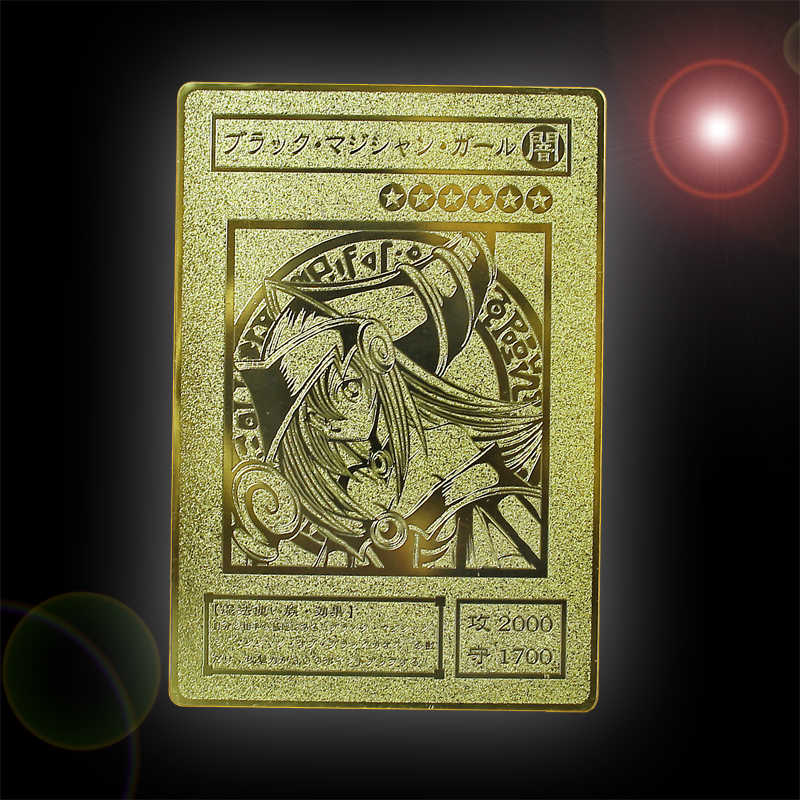 YU GI OH Gold Card Metal Card Local Japanese Golden Eye White Dragon VOL Edition Collection Card Kids Toy Gift