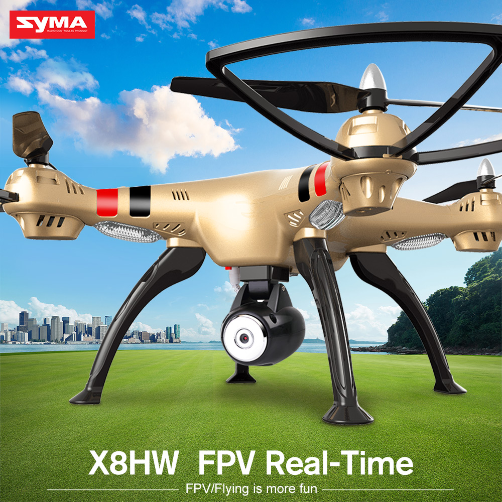 Original SYMA X8HW 2.4G Remote Control Drones Quadcopter With HD Camera WIfi Real-time Transmission RC Helicopter Toys Gift