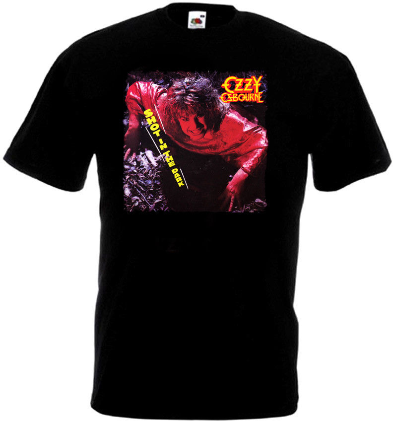 Ozzy Osbourne выстрел в темноте футболка черный плакат все размеры S... 5 XLCrew вырезом Короткие Футболка для для мужчин