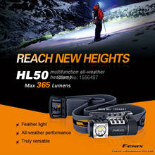 Free Shipping New Fenix HL50 XM-L2 T6 365 lumens 3 mode strong multi-purpose bald head lamp headlamp 1*AA/1*CR123A(China)