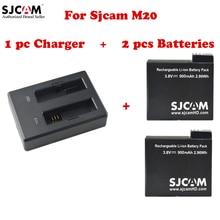 Оригинальный SJCAM Камера Аксессуары из 2 предметов Аккумуляторы + 1 предмет двойной Зарядное устройство для SJCAM M20 Wi-Fi спорт действий Камера