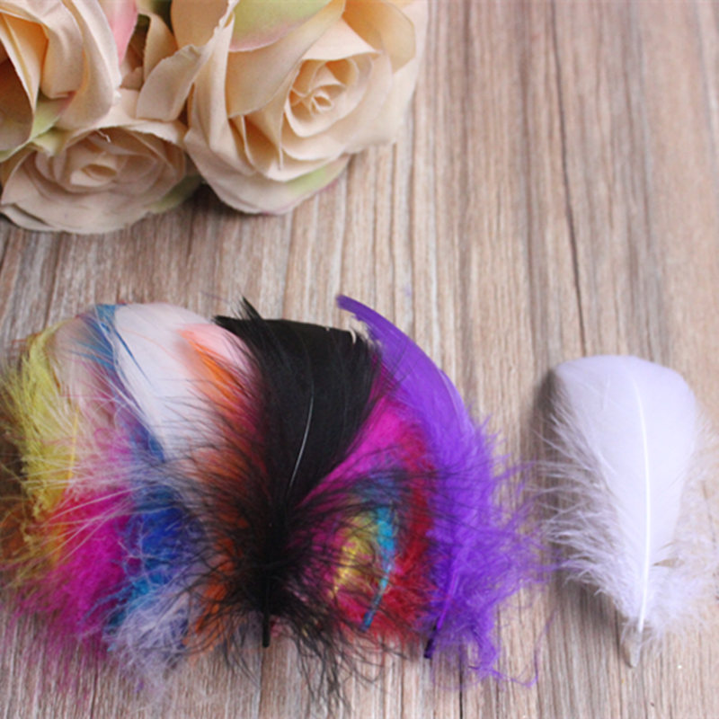 100 Pcs DIY Natural Fluffy goose Feathers 14colors home Christmas Cosplay decoration clothing shoes hat accessories Wholesale