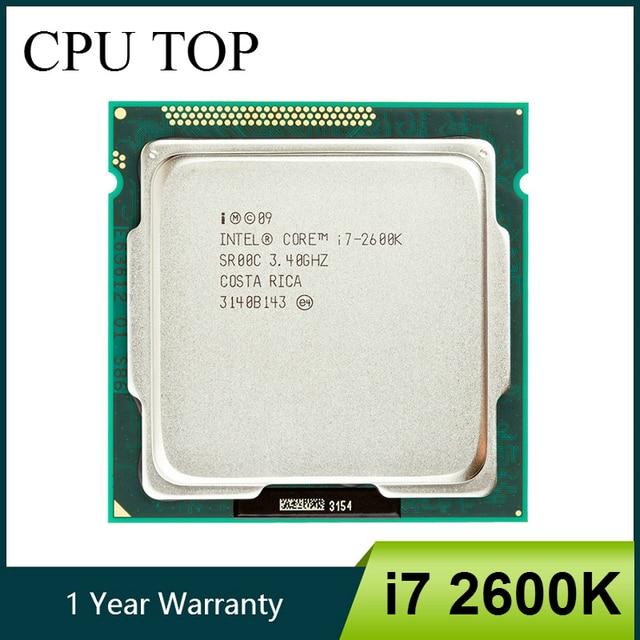 Intel Core i7 2600K 3.4GHz SR00C dört çekirdekli LGA 1155 CPU İşlemci