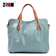 ZROM Brand Genuine Leather Women Handbag High Quality Fashion Ladies Shoulder Bag Solid Color Top-handle Bag Handbag цена и фото