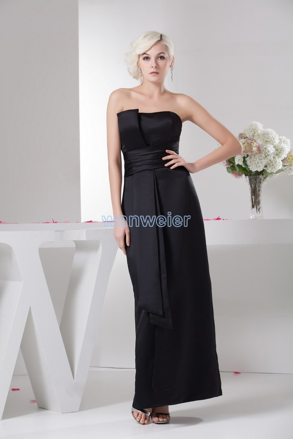free shipping vestidos formales 2013 new hot seller actual images high quality designer scalloped pleat black   Bridesmaid     Dresses