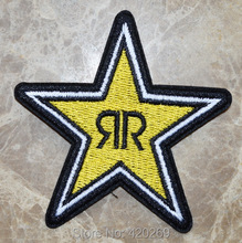 Hot Sale ! Yello ROCKSTAR ENERGY RACING LOGO SYMBOL Iron On Patches, sew on patch,Appliques ,100% Quality