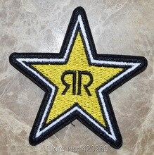 חמה למכירה! Yello אנרגיית ROCKSTAR מרוצי סמל לוגו ברזל על תיקונים, לתפור על תיקון, אפליקציות, 100% איכות
