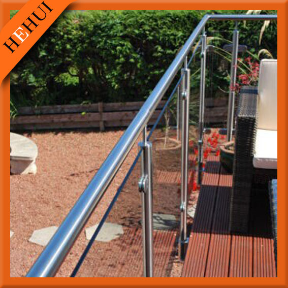 Safety Balcony Stainless Steel Railing Design For Outdoor Staircase