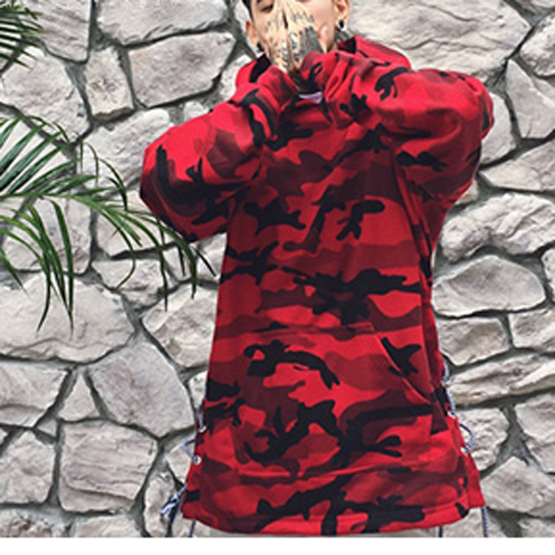 HEYGUYS HOT 2018 red camouflage hoodie men fashion sweatshirts brand orignal design casual pullover for me autumn 2