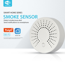 WiFi Smart Smoke Detector Wireless Fire Smoke Sensor Temperature Detector For Home Security Alarm System APP Control