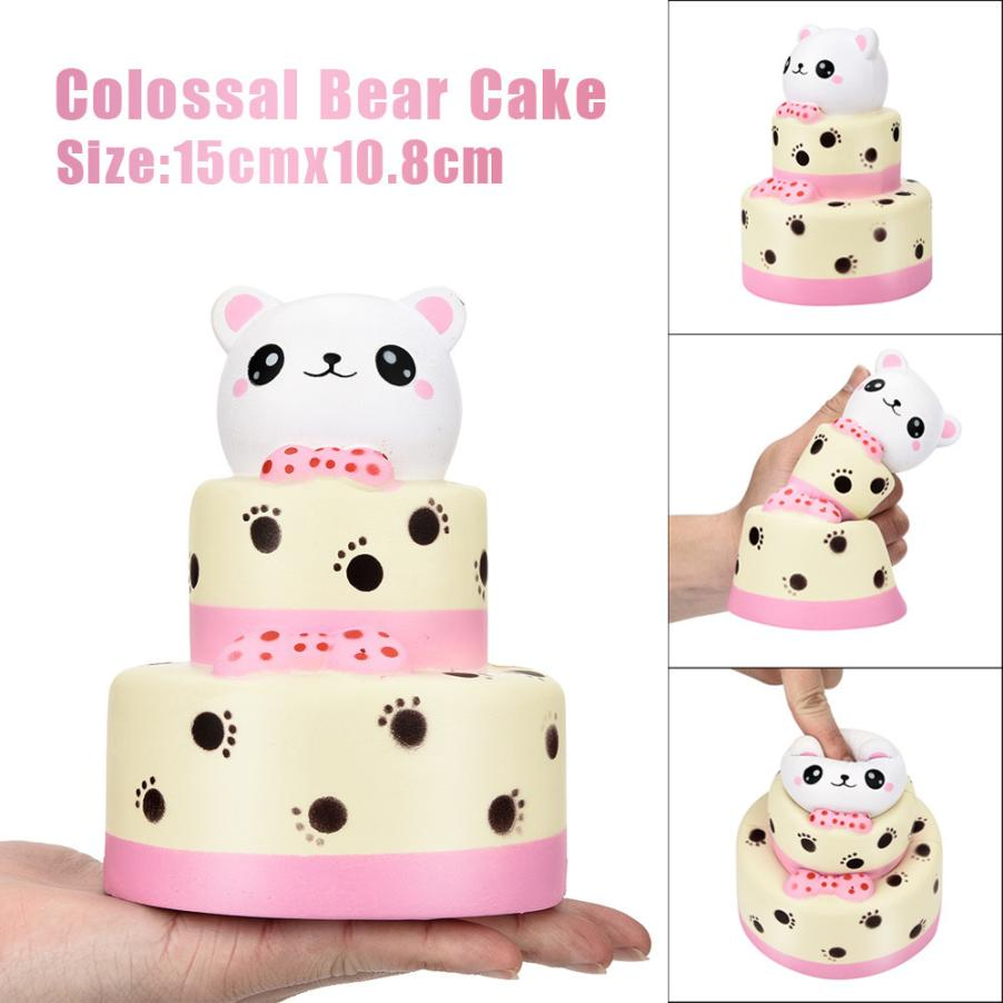 15CM Colossal Bear Cake Squishy Slow Rising Cream Squeeze Scented Cure Toy Gifts squishi squishies anti stress funny prank #25 ...