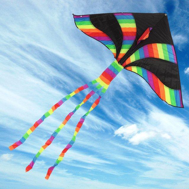 Nova Chegada 2 Unidades/pacote Delta Kites Linha Rainbow Joaninha Crianças Presentes Brinquedos Engraçados Dos Esportes Ao Ar Livre