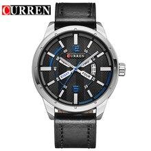 Curren marca de lujo de reloj de cuarzo de Cuero de Moda Casual relojes reloj masculino reloj de los hombres Relojes Deportivos envío libre 8211