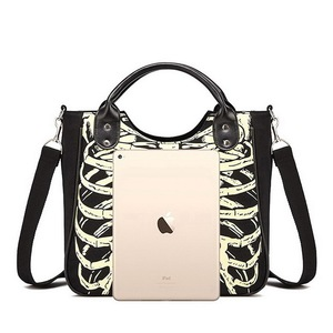 Image 5 - DIINOVIVO Luminous Gothic Skeleton Bones Skulls Bags Rock Designer Female Casual Totes Women Punk Bags Fashion Handbag WHDV0244
