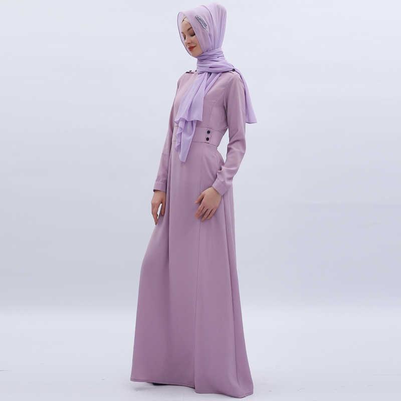 Длинное фиолетовое Vestidos абайя, Кафтан Дубай Арабский мусульманский платье хиджаб женщин Caftan Elbise Eid турецкие платья Jilbab Femme Musulman