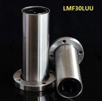 20pcs/lot LMF30LUU 30mm 30*45*123mm long type round Flange linear ball motion bearings bushing