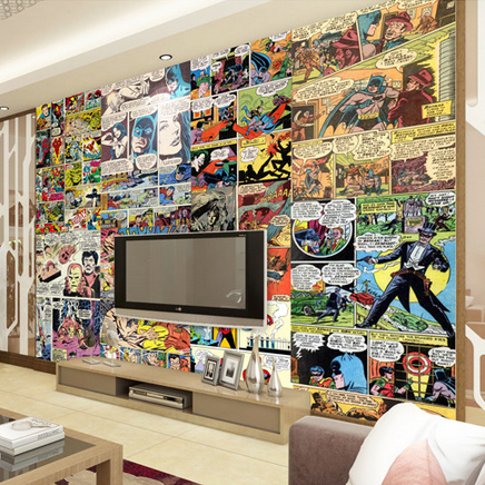 Free Shipping Europe United States cartoon wallpaper 3D puzzle art space sofa TV background bedroom living room mural  free shipping cartoon pattern wallpaper leisure bar ktv lounge living room sofa children room background comics wallpaper mural