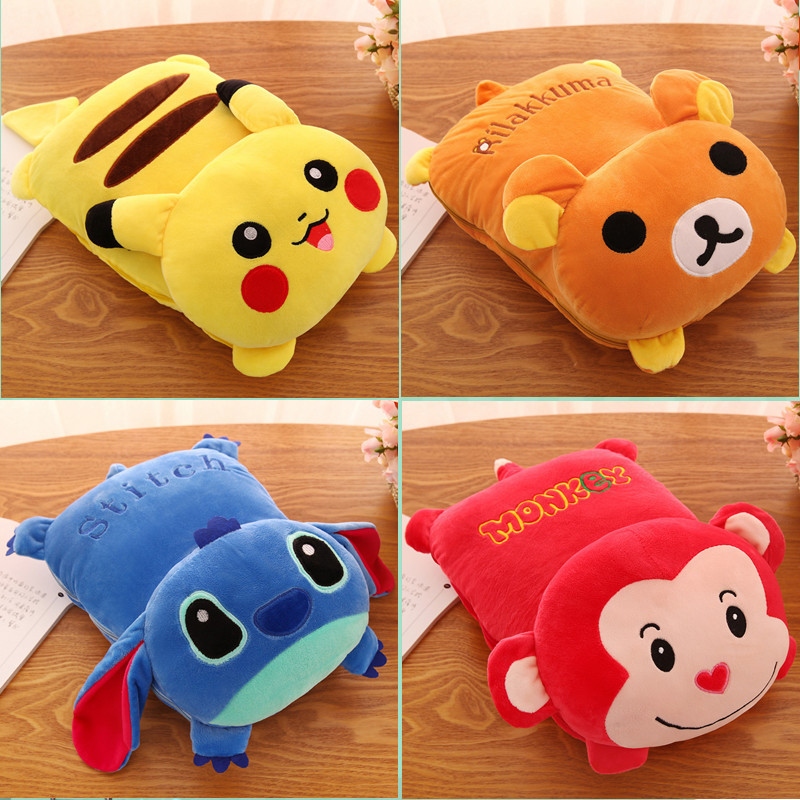 Lovely Fruit Plush Blanket Cute Cartoon Velvet Doll Pillow Cushion Nap Car Sofa Bolster Air Conditioning Pillow Blanket 2 In 1 Replacement Batteries Batteries