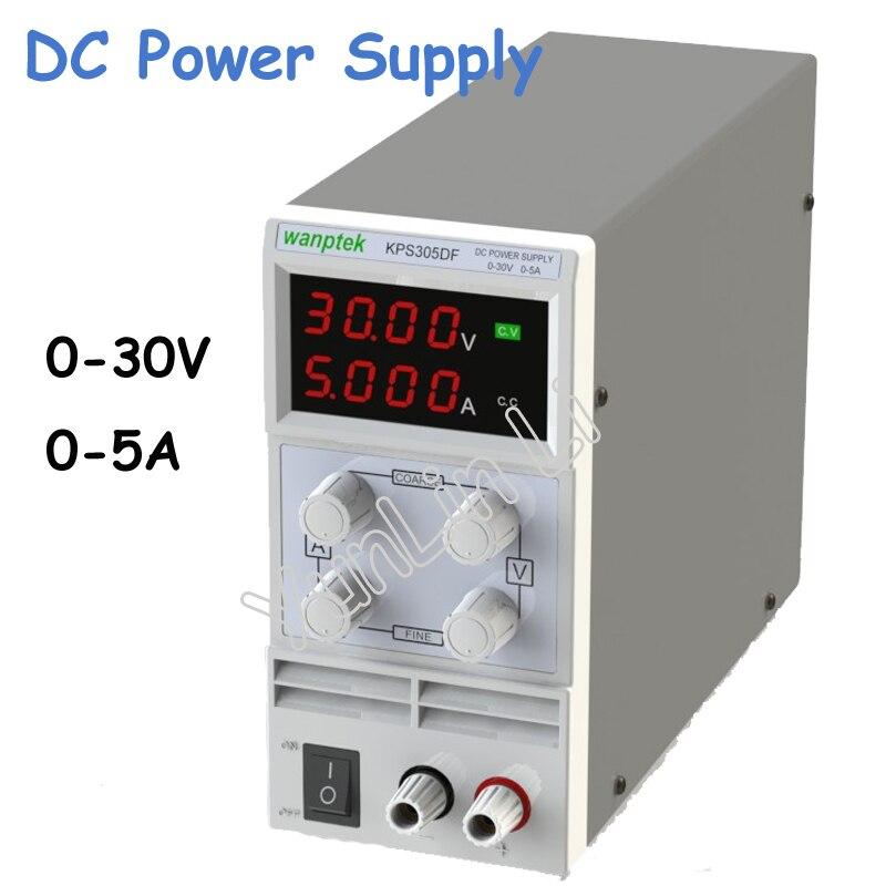 0-30V/0-5A LED Digital Adjustable Switch DC Power Supply mA Display KPS305DF