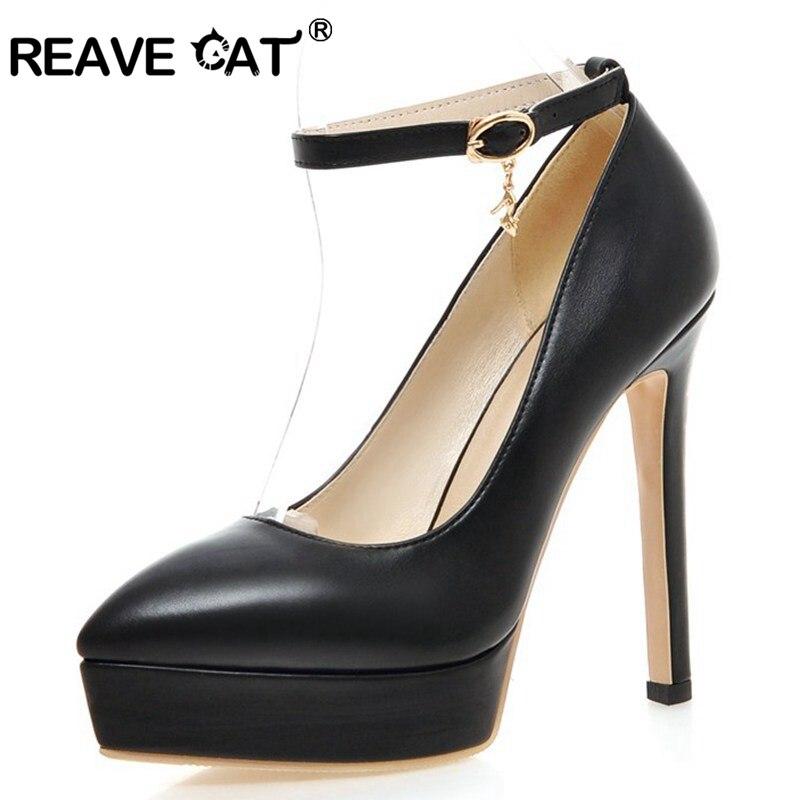 Reave forme Pointu Taille Chaussures Sur Hauts Vente 43 Pompes Bout Dames De Beige red blue black Chat Boucle Plate Botas pink Causalité 33 La Femme Mujer Talons Plus A294 8P65xw8qr