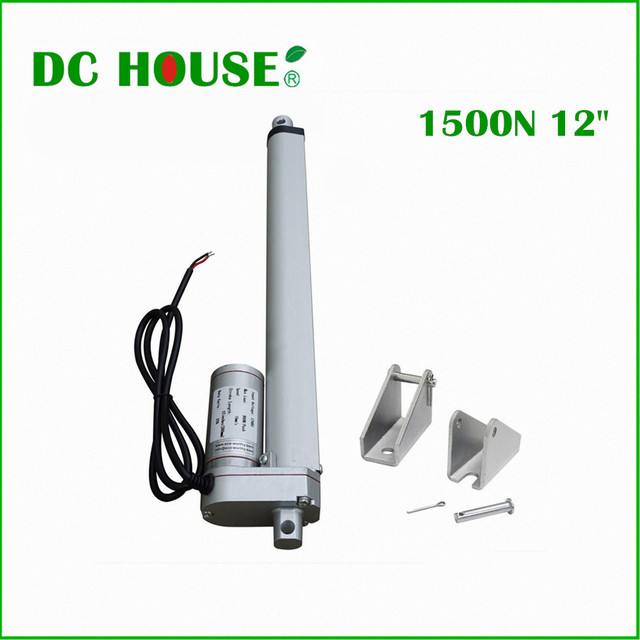 300mm stroke 12V DC electric linear actuator,solar tracker,1500N=150KG load  5.7mm/sec , for electric sofa, bed