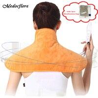Electric Neck Massager shawl shoulder warm heating pad Hot compress moxibustion shawls with 2 packs Moxibustion bag health care