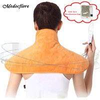 Electric Neck Massager shawl shoulder warm heating pad Hot compress moxibustion shawls with 2 packs Moxibustion bag health care