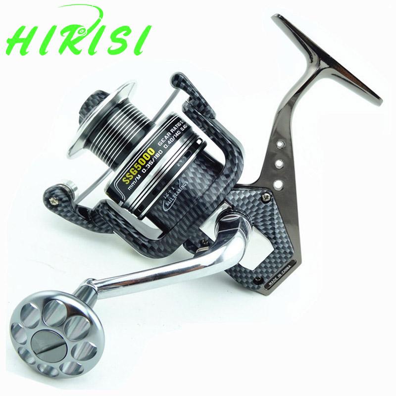 Prix pour Couleur de carbone Bobine En Métal Corps 12 + 1 Roulements À Billes 5.2: 1 Spinning Reel Fishing avec bobine Supplémentaire