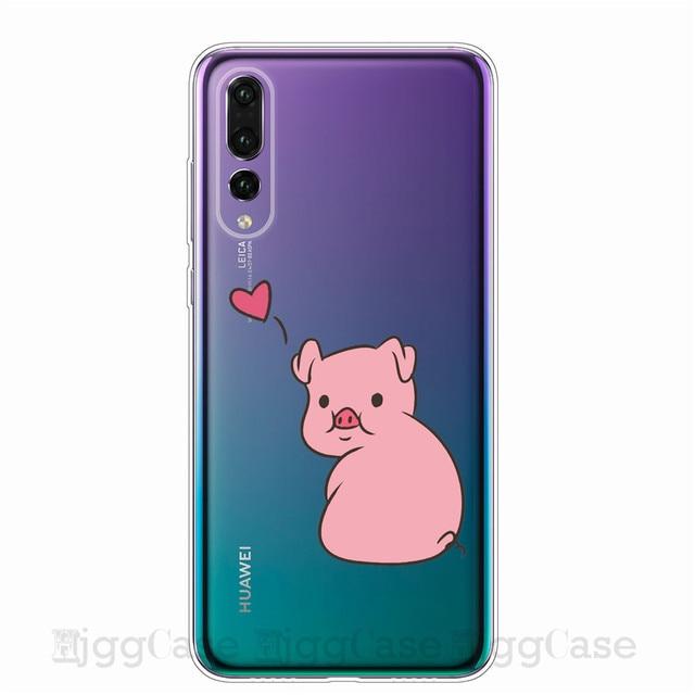 Lustige Nette Schwein Gedruckt Telefon Für Huawei P10 P20 P30 Lite Pro Fall Silikon Telefon Abdeckung Fall Für Huawei Mate 10 20 30 Lite Pro