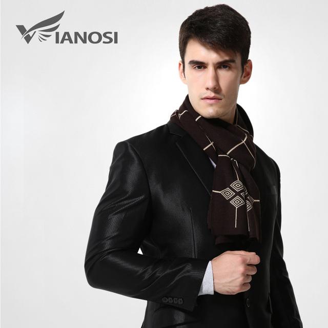 [Vianosi] cachecóis cachecol de lã marca dos homens quentes de luxo homem de negócios de design de moda da manta xailes echarpe cachecol ma005