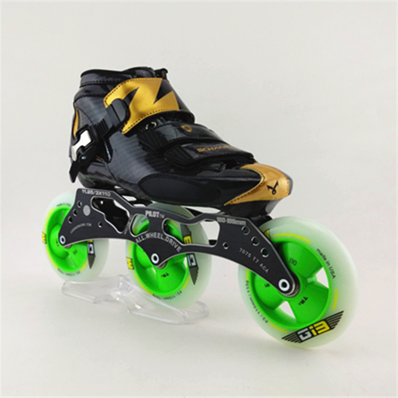 Genuine Brand Adults Professional Speed Roller Skating Skates Children Roller Patins Inline Skate Shoes With 3x110mm Wheels children roller sneaker with one wheel led lighted flashing roller skates kids boy girl shoes zapatillas con ruedas