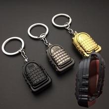 купить PUBG Keychain Level 3 armor backpack bag Keychain Cosplay Props Playerunknown's Battlegrounds Game Costume Accessories Pendant дешево