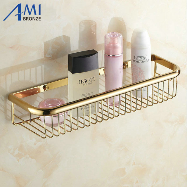 30 cm 45 cm Wand Goldenen Poliert Bad accessoires Badezimmer Regale ...
