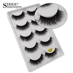 Image 3 - New 10 lots wholesale factory price mink false eyelashes hand made false eyelash natural long 3d mink lashes makeup faux cils