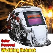 Солнечная энергия автоматический затемняющий сварочный шлем маска Регулируемая DIN 9-13/Отдых DIN 4 сварочное Защитное снаряжение ARC MIG TIG MMA