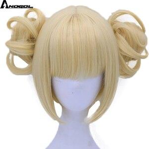 Image 2 - Anogol двойной хвост аниме My Hero Academy химико Тога крест мое тело короткий прямой блонд Синтетический Косплей парик для Хэллоуина