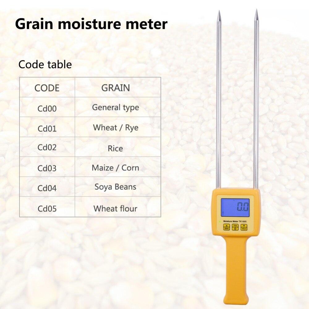 Digital moisture meter Portable Grain Moisture Meter TK100S use for Corn,Wheat,Rice,Bean,Wheat Flour