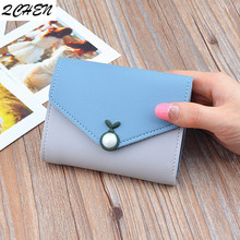 Women Wallets Small Fashion Brand Leather Purse Ladies Card Bag For Women 2019 Clutch Women Female Purse Money Clip Wallet 275