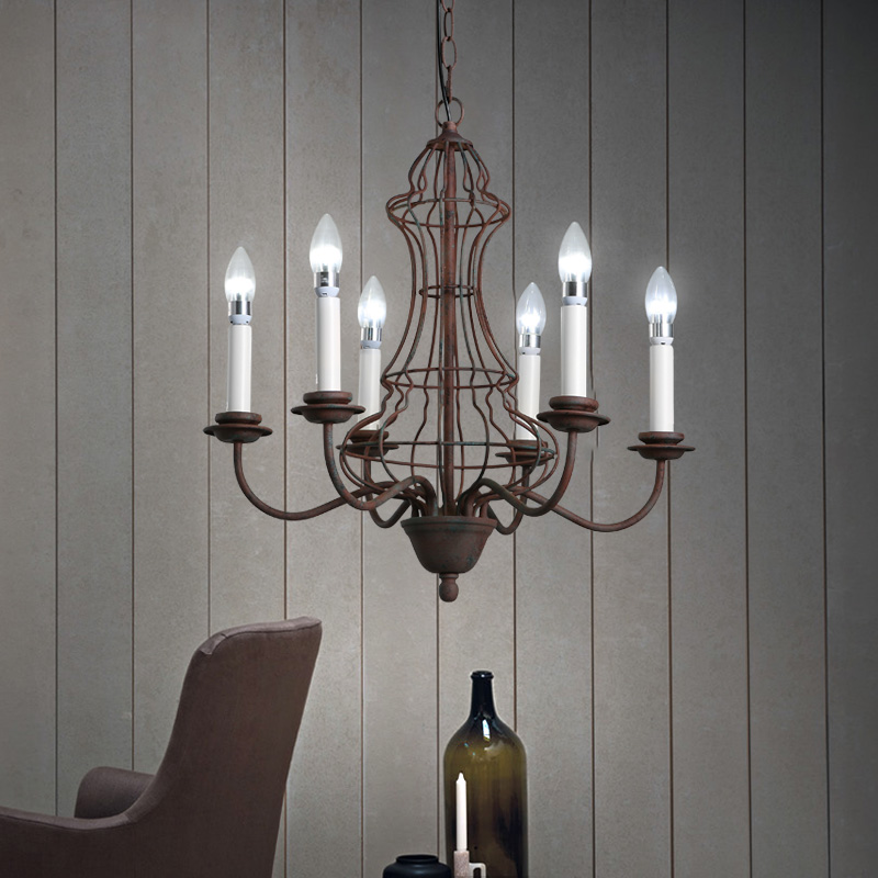 American retro industrial Iron pendant lamps candle do old creative study the living room hotel cafe restaurant light ZA8291 the restaurant in front of the hotel cafe bar small aisle entrance hall pendant light creative mediterranean
