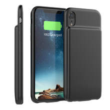 External 5000mAh Battery Charger Case For iPhone Xr with Audio Spare Phone Charger Power Bank Protector LED Power Indicator