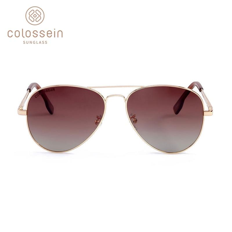 COLOSSEIN Gafas de Sol Piloto Hombres Mujeres Vintage Lente Oval - Accesorios para la ropa - foto 2