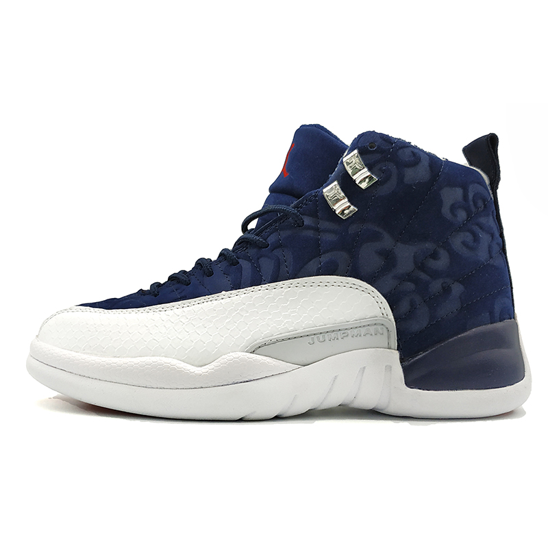2a9eb01fa778 High Quality Jordan 12 Men Basketball Shoes Gym Red Basketball Shoes  Playoff White Blue Flu Game Outdoor Sport Shoes