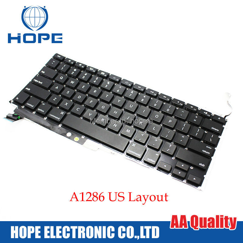 Original US Keyboard For Apple Macbook Pro 15'' A1286 With Backlight 2009 2010 2011 2012