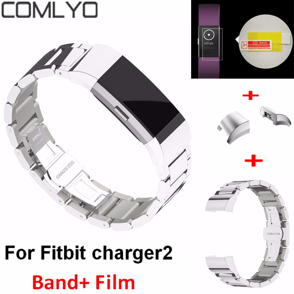 Hot For Fitbit Charge 2 Band 3 Point 316L Metal Stainless Steel Band For Charge2 Strap Smart Bracelet Replac Watches Bands Strap